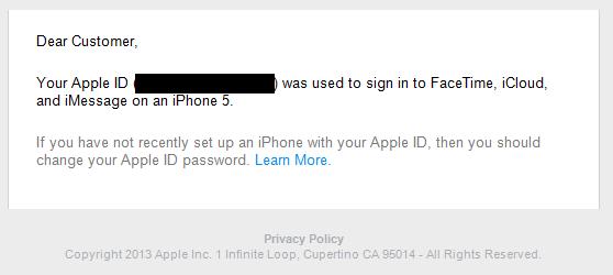 Apple-ID wurde angeblich benutzt